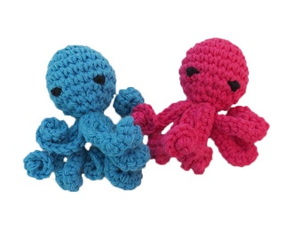 New Mini Catnip Octopus Cat Toys with Long Squiggly Arms - Choose Your Colors