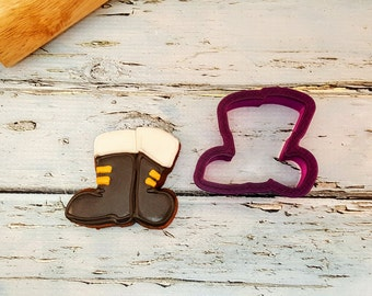 Santa Boots or Combat Boots Cookie Cutter and Fondant Cutter and Clay Cutter