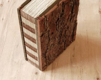 Rustic Bark Wood Guest book or Journal - extra large cabin vacation home guestbook - memorial - nature lover  gift - ready to ship