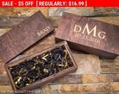 Personalized Wooden Gift Box, Custom Groomsmen Box, Husband Gift Box, Engraved Wooden Box, Rustic Wedding- Small Memory Box