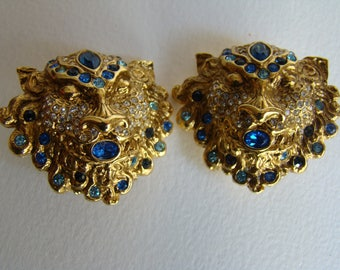 Jean Louis Scherrer Lion Earrings