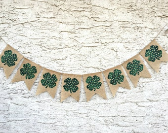 St Patricks Day Banner, QUICK SHIP, Shamrock Banner, St Patricks Day Decoration, St Patricks Banner, St Patricks Day, St Patricks Day Decor