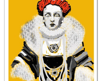 Kween Elizabeth Illustration-Pop Art Print