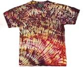 L Hand Dyed L Shibori Tie Dye Men's T Shirt Large - Fire Agate Large