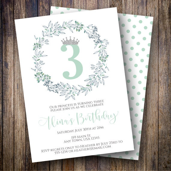 garden birthday party invitation floral birthday party invite