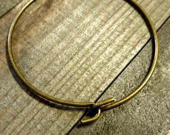 Wire Cuff Bracelet Blank Bangle Bracelet Blank Bronze Cuff Bracelet Brass Ox Blank Bracelet