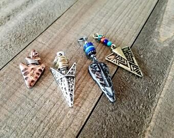 Arrowhead charms etsy arrowhead pendants arrowhead charms set verdigris patina pendants western charms arrow head charms assorted charms silver aloadofball Image collections