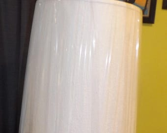 Large Drum Lamp Shade, Vintage lamp shade, Large Lamp shade, lamps and lighting, Cream colored lamp shade