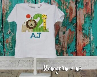 Zoo birthday Shirt, 1st Birthday safari shirt, Jungle, Wild One birthday shirt