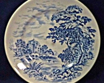 Vintage Countryside Blue by Wedgwood England Bread & Butter Plate, Discontinued 1966-1968