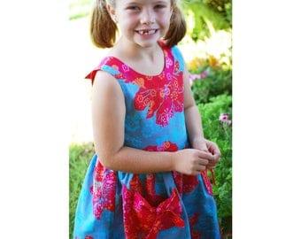 Floral Girls Party Dress, Girls Floral Dress, Birthday Party Dress, Floral Party Dress, Birthday Girl Dress