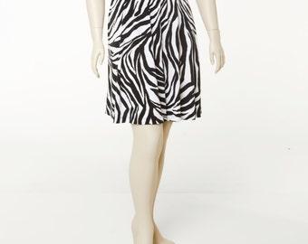 Zebra Print A-line Skirt Mate Jersey 4 Lengths Sizes 2-28