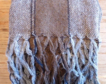Hand Woven Traditional Pure All Wool Shawl in Great Shape! Washed and Ready to Wear To The Campfire...