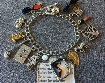 Secret Diary of Laura Palmer Custom Charm Bracelet, w/ Diary Text & Portrait,  plus you chose 12 additional Twin Peaks inspired charms