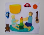 Sharing Games / Big Brother / Big Sister / Toddler Quiet Book / Personalized Quiet Book / Felt Activity Book / Birthday Gift  / Fine Motor /