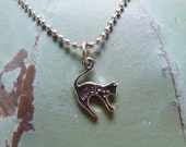 Adopt a Kitty, Tiny Cat Pendant, Necklace, Jewelry