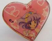 Reserved for caroline. thanks.The Magical Girl Japanese Manga Badge.90s