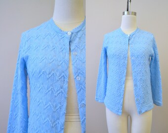 1960s Helen Sue Pale Blue Cardigan