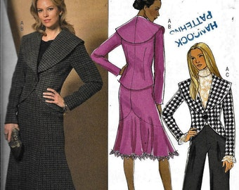 Butterick B4869 Jacket, Skirt & Pants 2-Pc Dress Suit Sewing Pattern 4869 UNCUT Size 8, 10, 12, 14