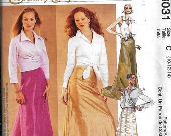 McCall's 3031 Evening Skirt & Blouse Sewing Pattern UNCUT Evening Elegance Long Floor Length Size 10, 12, 14