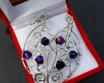 Butterfly wing earrings- dangle earrings- whimsical - fantasy earrings - elf earrings- elven