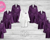 7 Chest Only satin Robes