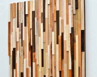 Rustic Wood Wall Art - Wood Sculpture Wall Installation