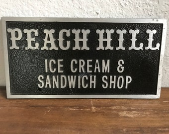 Ice cream shop sign- metal
