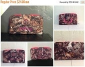 New Year Sale Camo Pink Trim Brown Quilted Wallet with Matching Purse Personalize or Monogram Included
