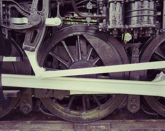 Train Decor, Railroad Track Photography, Industrial Decor
