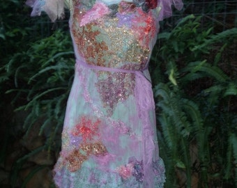 """20%OFF bohemian gypsy lagenlook hippy shabby dress ...smaller to 36"""" bust"""