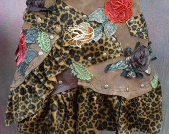 20%OFF shabby belt, leather skirt, tattered skirt,bohemian, boho, belt, western, leather belt, tribal belt, belly dance, festival belt, M, L