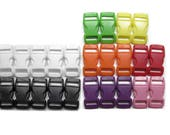 """50 Safety Breakaway Pull-Apart Buckles, 3/8"""" (10mm) Eight Colors to Choose From. Contoured, Side-Release, Plastic. Perfect for Cat Collars."""