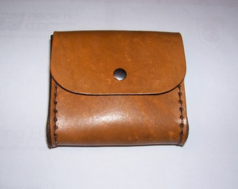 Hand Made Brown Leather Belt Bag