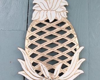 Kitchen Charm... Vintage Brass Pineapple Trivet, Hot Plates, Kitchen Decor