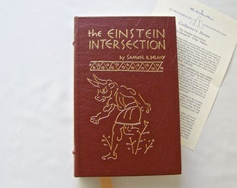 Vintage The Einstein Intersection By Samuel R Delany 1967 Masterpieces Of Science Fiction Leather Bound 22k Gold Gilt