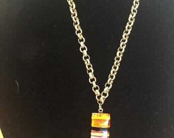 Venetian Glass Pendant Necklace