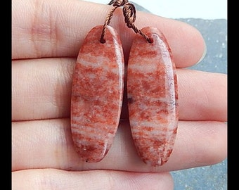 Jasper Earring Bead,34x12x5mm,7.2g