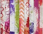 digital paper 12x12 digital scrapbooking scrapbook art journal altered art mixed media collage backgrounds - Artsy Papers Set 4