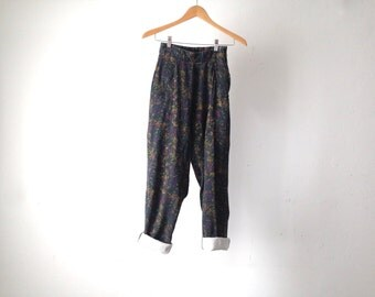 versace style vintage 90s PAISLEY baggy pants size 5/6