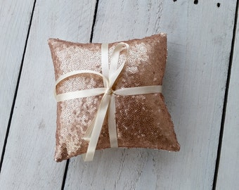 Sequin ring pillow, ring bearer pillow, rose gold sequin weddin, gold ring bearer, blush sequin pillow,sequin wedding