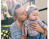 SALE Mother Daughter Headbands - Many Colors - Mommy and Me Headbands - Jersey Baby Headband - Sailor Knot Headbands - Adult Headbands