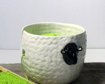 Sheep Yarn bowl  Knitting and crochet  bowl  Ready to ship Mother'sDay