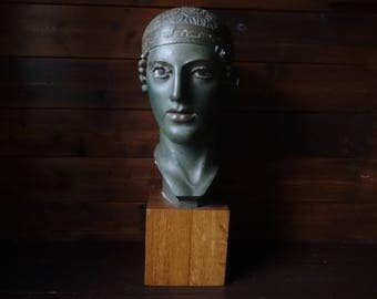 Vintage French Moulage Musee Du Louvre Life Size large bust statue figurine plaster ornament circa 1960-70's / English Shop
