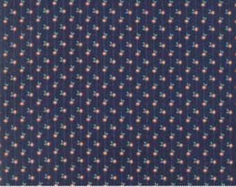 Sweet Marion Sailor Man Dark Blue Daisy Chain 24042 19 by April Rosenthal for Moda