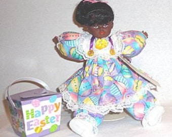 Mavis,OOAK African American Black collectible Easter baby doll