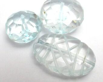 Aquamarine Focal beads Orphans - Mixed lot for crafting beading making jewelry Destash JAC
