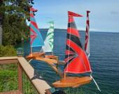 2017 New STYLE Sailboat Whirligig