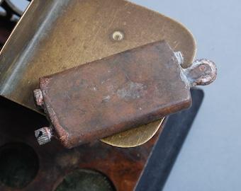 Antique metal Lighter, original dark patina
