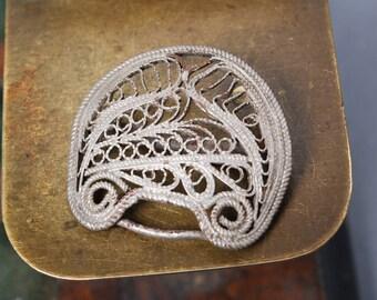 Part of antique vintage filigree belt buckle, finding